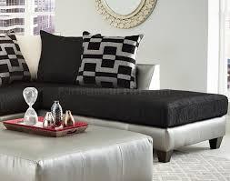 sectional sofa in black corduroy fabric u0026 pewter bi cast