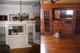 1920 S China Cabinet by Under 18 Layers Of Paint We Struck Douglas Fir Restoring Our