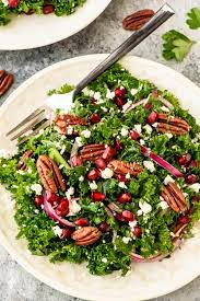 kale salad for thanksgiving winter salad with kale and pomegranate