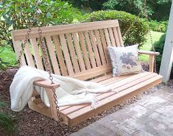 Porch Swings For Sale Lowes by Furniture Charming Wooden Porch Swings With Iron Holder And A