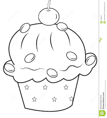cupcake coloring stock illustration image 52086817