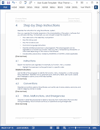 user guide template download ms word templates and free forms