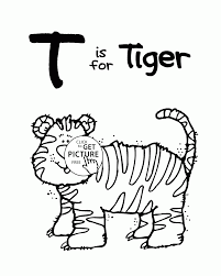 letter t alphabet coloring pages for kids letter t words