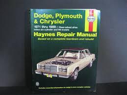 vintage dodge plymouth chrysler haynes repair manual