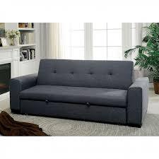 reilly grey linen like fabric futon sofa