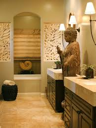 bali asian inspired beige tiles and bathroom paint color with