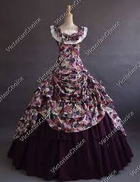 Ball Gown Halloween Costume Southern Belle West Gown Victorian Saloon Dress Vampire