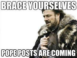 First Internet Meme - a pope retires for first time in 6 centuries internet has field