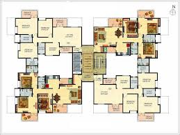 large 1 story house plans house plan multi family large house floor plans colored layout