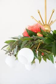 diy floral chandelier garland sugar u0026 cloth