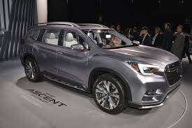 volkswagen suv 3 rows subaru ascent concept lands in ny to preview 3 row production suv