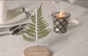 wedding table numbers how to make pressed fern wedding table numbers