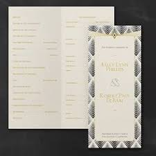 deco wedding program printable wedding program calligraphy wedding program black and
