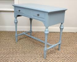 Small Vintage Desk Blue Furnishings Blue Vintage Desk Console Sewing Table Sold