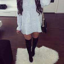 missguided ayvan off shoulder knitted jumper dress grey