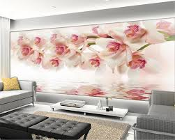 online buy wholesale orchid wall murals from china orchid wall beibehang photo wall mural wallpaper dream orchid flower modern simple interior 3d wallpaper papier peint mural