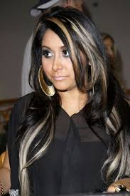 black hair with highlights hairstyle picture magz