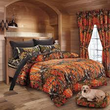 Orange Camo Bed Set 20 Lakes Woodland Camo Comforter Sheet