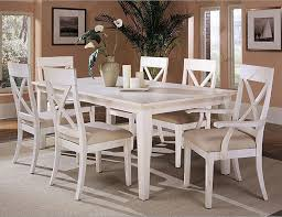 White Kitchen Furniture Sets White Wood Dining Table And Chairs Delectable Decor Dining Room
