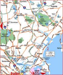 road map massachusetts usa road map of metro boston northeast boston massachusetts