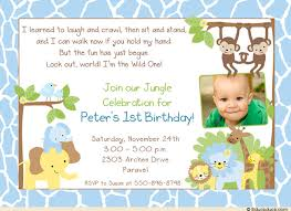 jungle safari birthday boy invitation animals blue