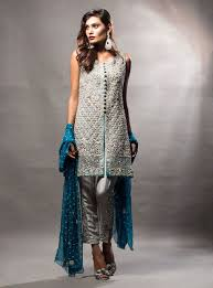pakistani party wear embroidered shirts designs 2017 2018 collection