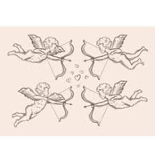 hand drawn vintage wings sketch royalty free vector image