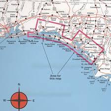 destin map spot fishing map n225 destin to panama city