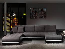 canapé design d angle canapé d angle fixe design en tissu gris pu noir alamak canapé en
