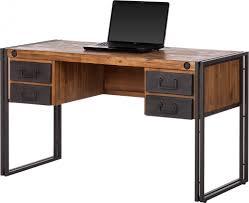 bureau en bois moderne bureau bois bureau bois et laque tiroir et niche northgate blanc