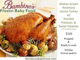 turkey dinner family bambinos baby food