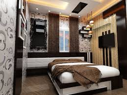 bed back wall design view of bed room design with wooden bed having wooden back rest