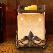 halloween wax warmer ambiescents tan and metal fleur de lis wax warmer walmart com