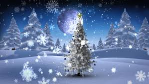 seamless animation white snowy and snow winter landscape with