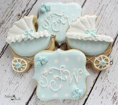 baby carriage baby shower cookies baby shower favors
