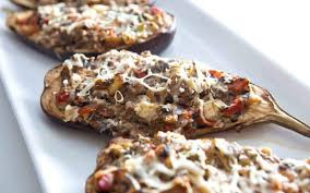 baked stuffed eggplant gets heft from mushrooms and cheese miami