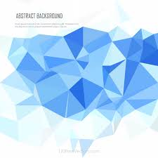 light blue polygonal pattern background template 123freevectors