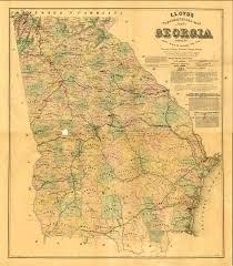 Maps Of Georgia Maps 1864 Georgia Map Georgiainfo