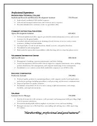 19 resume profile example construction document sample