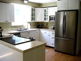 U Shaped Kitchen Designs With Island by U Shaped Kitchen Designs With Island Stainless Steel Refrigerator