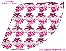 cheshire cat birthday party cutouts printables