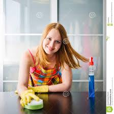 Cleaning Table Stock Images Royalty by Cleaning Table With Furniture Polish At Home Stock Photo