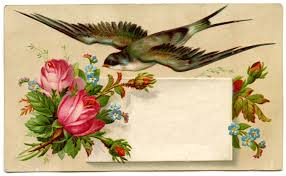 vintage cards vintage image pretty calling card with bird the graphics fairy