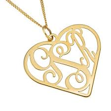 monogram necklace gold three letter heart monogram necklace gold gold