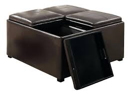 Square Leather Ottoman With Storage by Coffee Tables Exquisite Fabric Ottoman Storage Square Under
