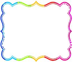 rainbow frame clipart clipartxtras