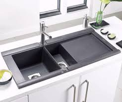 Kitchen Sink Black Geo 1 5 Bowl Black Composite Kitchen Sink Right Handed Astracast