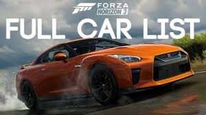 volkswagen cars list forza horizon 3 full car list no volkswagen aventador dlc and
