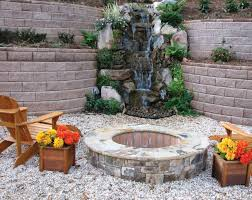 Fire Pit With Water Feature - awesome ideas for small garden on bricks with round fire pit and