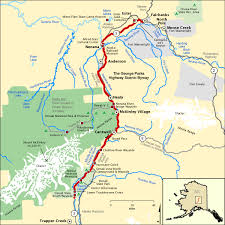 the george parks highway scenic byway map america s byways